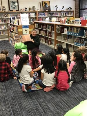 1st graders enjoy the story of Martina The Beautiful Cockroach