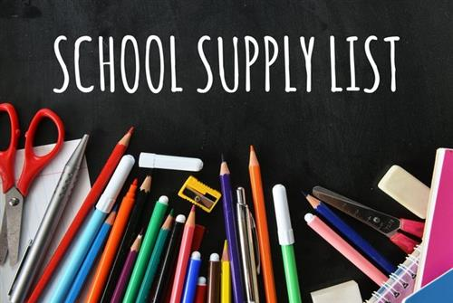 School Supply Lists / Supply Lists