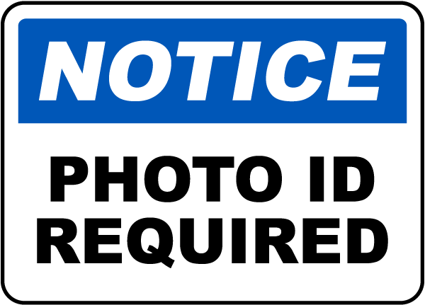 ID Required Image