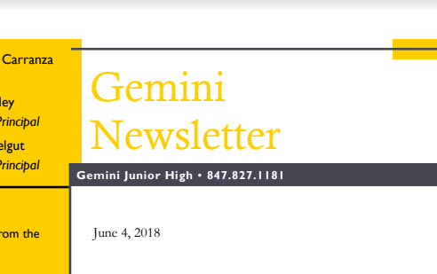 Gemini Newsletter